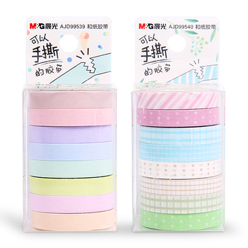 16PCS/2sets M&G Chenguang írószer 7mm*5m meetape fagyit papír szalag szalaggal washi tape